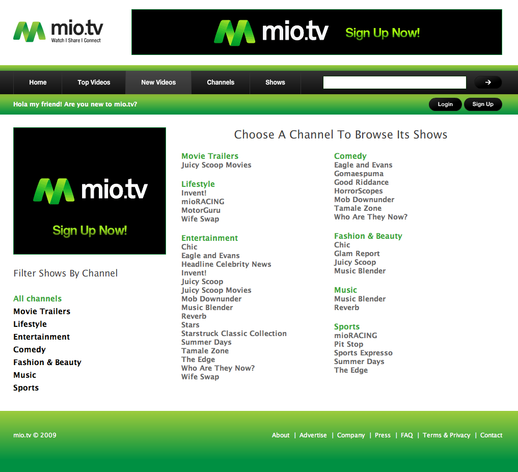 Mio.tv | Tanuki Studio - Website Design, Software Development ...